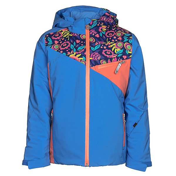 Spyder Project Girls Ski Jacket, French Blue-Frontier Large Dit, 600