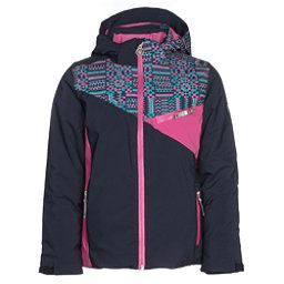 Spyder Project Girls Ski Jacket, Frontier-Baltic Geo Print-Rasp, 256