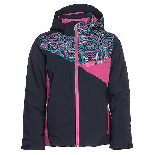 Spyder Project Girls Ski Jacket, Frontier-Baltic Geo Print-Rasp, 600