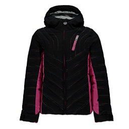 Spyder Hottie Girls Ski Jacket, Black-Raspberry, 256