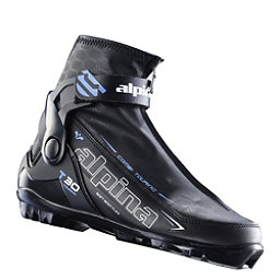 Alpina T 30 Eve Womens NNN Cross Country Ski Boots 2018, Black-Blue-White, 256