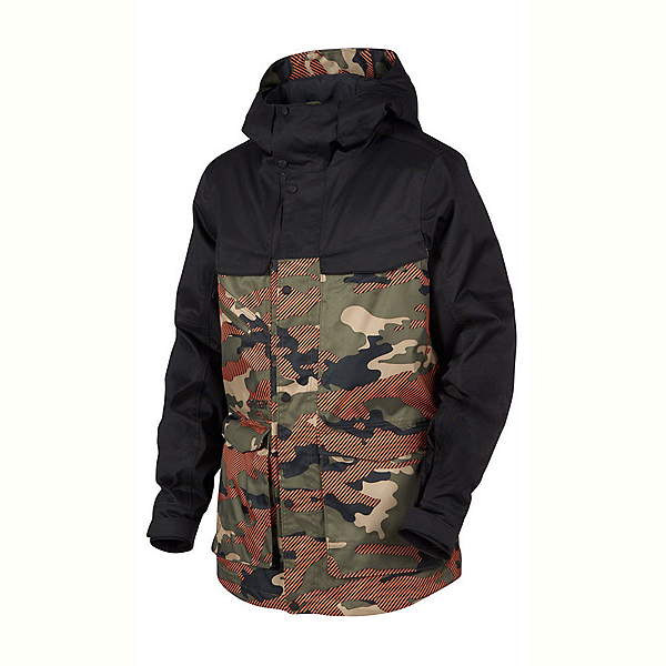 Oakley Timber BZS Mens Shell Snowboard Jacket, Warning Camo, 600