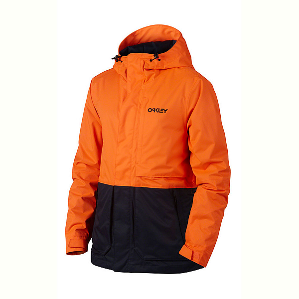Oakley Highline BZS Mens Shell Snowboard Jacket, Neon Orange, 600