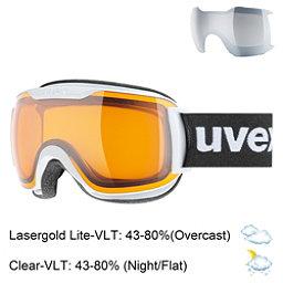 Uvex Downhill 2000 S Race Goggles 2018, White Matte-Lasergold Lite, 256