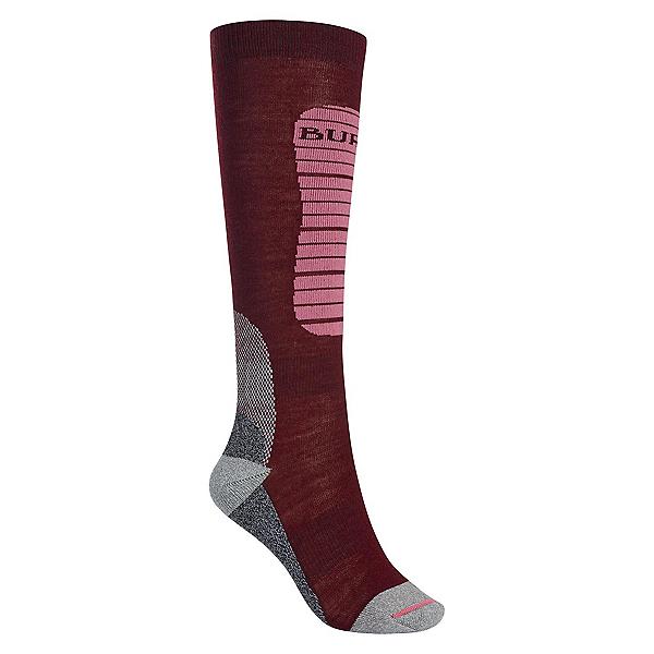 Burton Merino Phase Womens Snowboard Socks, Sangria, 600