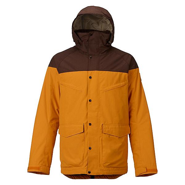 Burton Breach Mens Insulated Snowboard Jacket, Golden Oak-Chestnut, 600
