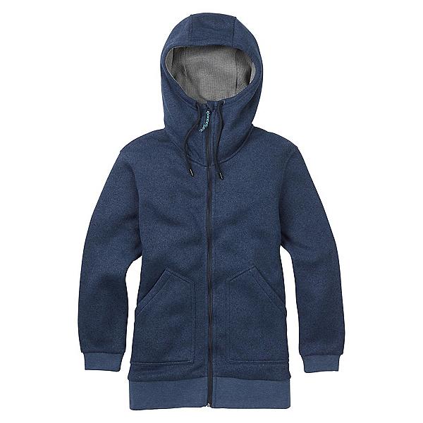 Burton Minxy Full Zip Fleece Womens Hoodie, Mood Indigo Heather, 600