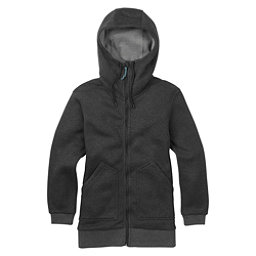 Burton Minxy Full Zip Fleece Womens Hoodie, True Black Heather, 256