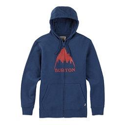 Burton Classic Mountain High Full Zip Mens Hoodie, Indigo, 256