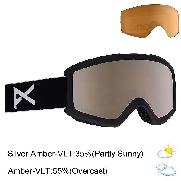 Anon Helix 2.0 Goggles 2020, Black-Silver Amber + Bonus Lens, 600