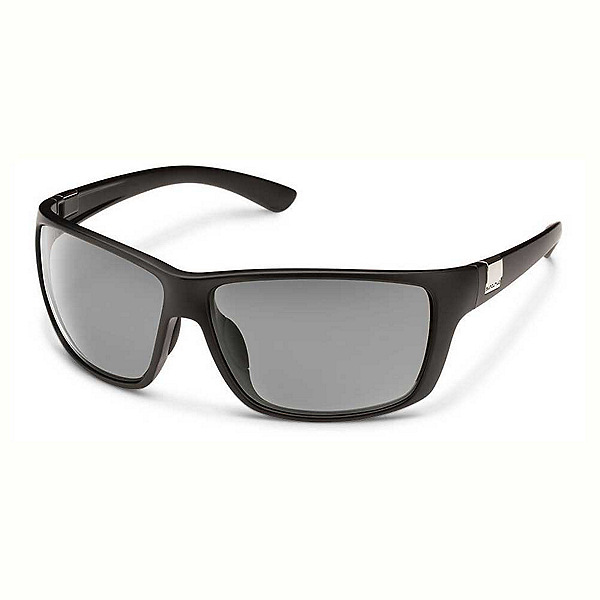 SunCloud Councilman Sunglasses, Matte Black-Gray Polarized, 600