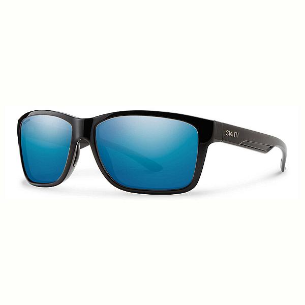 Smith Drake Polarized Sunglasses, Black-Techlite Polarized Blue Mirror, 600