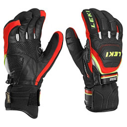 Leki WC Race Coach Flex S GTX Ski Racing Gloves, Black-Red-White-Yellow, 256
