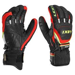 Leki WC Race Coach Flex S GTX Ski Racing Gloves, Black-Red-White-Yellow, 256