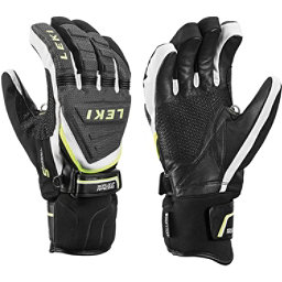 Leki Race Coach C-Tech S Ski Racing Gloves, Black-White-Yellow, 256