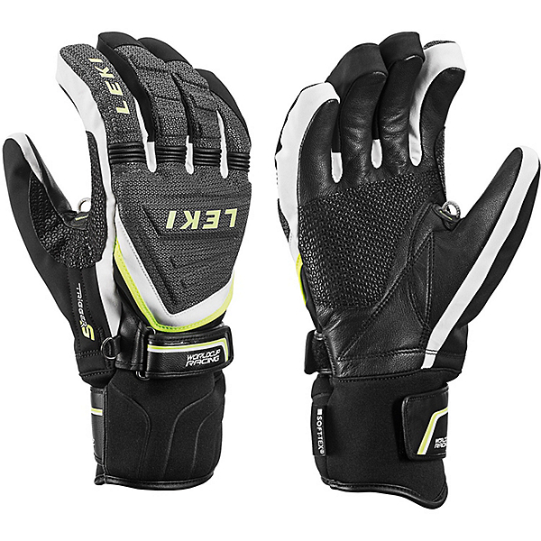 Leki Race Coach C-Tech S Ski Racing Gloves, Black-White-Yellow, 600