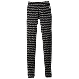 SmartWool Merino 250 Base Layer Patterned Womens Long Underwear Pants, Black-Charcoal, 256