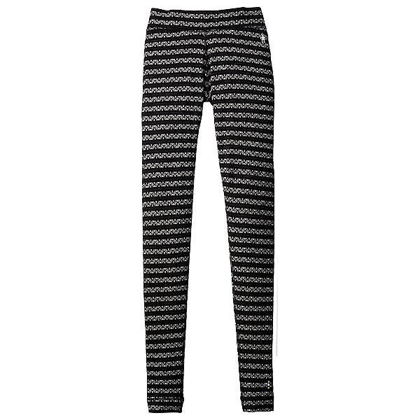 SmartWool Merino 250 Base Layer Patterned Womens Long Underwear Pants, Black-Charcoal, 600