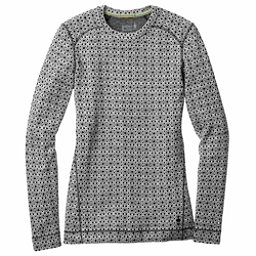 SmartWool Merino 250 Base Layer Pattern Crew Womens Long Underwear Top, Dogwood White-Black, 256
