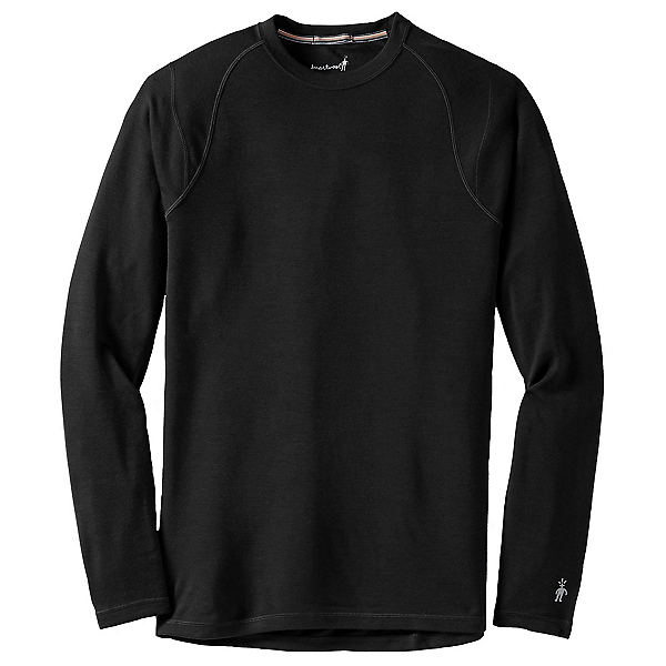 SmartWool Merino 250 Baselayer Crew Mens Long Underwear Top, Black, 600