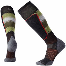 SmartWool PhD Ski Light Elite Pattern Ski Socks, Charcoal, 256