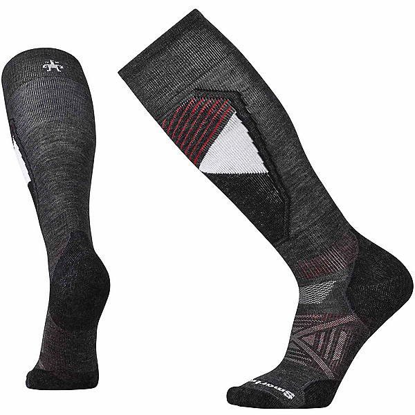 SmartWool PhD Ski Light Pattern Ski Socks, Black, 600