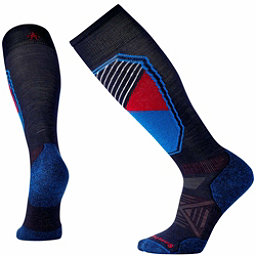 SmartWool PhD Ski Light Pattern Ski Socks, Navy, 256