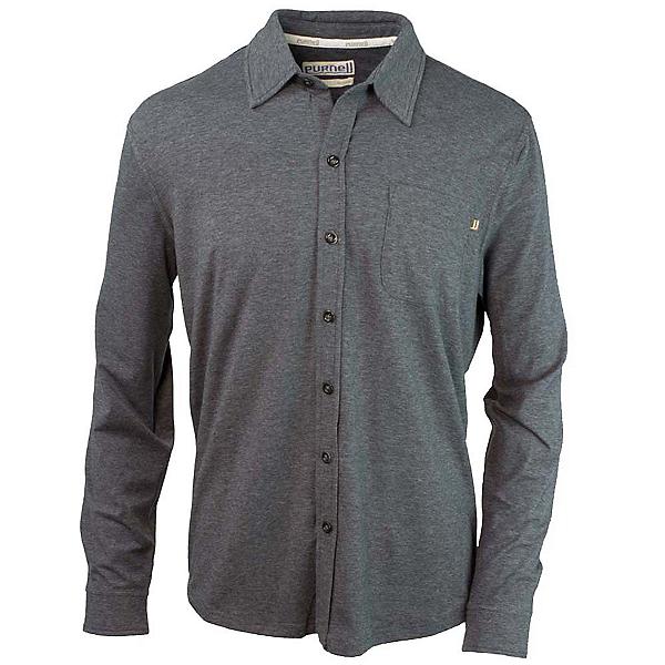 Purnell Jersey Knit Button-Up Mens Shirt, , 600