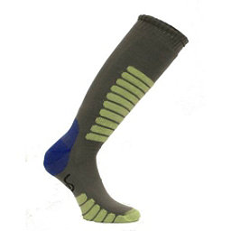 Euro Sock NEW Eurosock Supreme Lightweight Ski Sock Gray Mint Model #0412, , 256