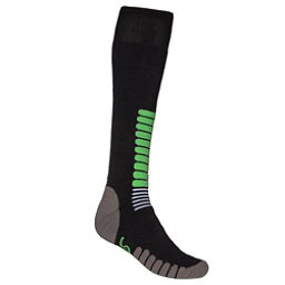 Euro Sock NEW Eurosock Ski Zone Medium Weight Sock Black Mint Model #1112, , 256
