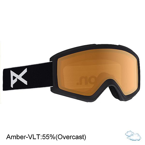 Anon Helix 2.0 Non Mirror Lens Goggles, Black-Amber, 600