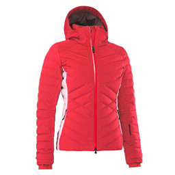 Mountain Force Ava Down Colorblock Womens Insulated Ski Jacket, Red-White, 256