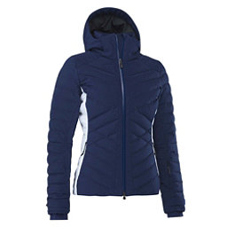 Mountain Force Ava Down Colorblock Womens Insulated Ski Jacket, Medieval Blue-White, 256