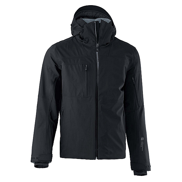 Mountain Force Hudson Mens Insulated Ski Jacket, Black-Copper, 600