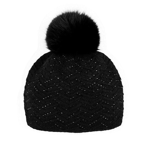 Mitchies Matchings Knitted w/Crystals Womens Hat, Black, 600