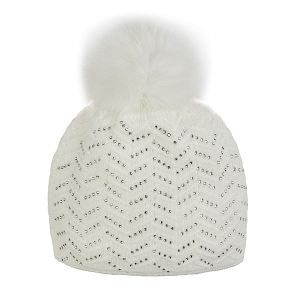 Mitchies Matchings Knitted w/Crystals Womens Hat, , 600