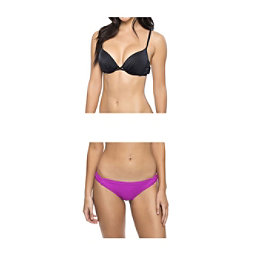 Oakley Core Solids Molded Cup Underwire Bathing Suit Top & Oakley Core Solids Tab Side Bottom Bathing Suit Set, , 256