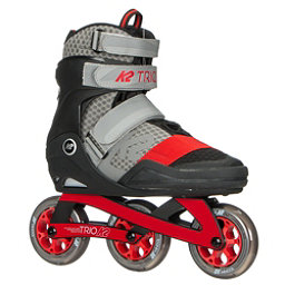 K2 Trio 100 Urban Inline Skates 2018, Grey-Red, 256