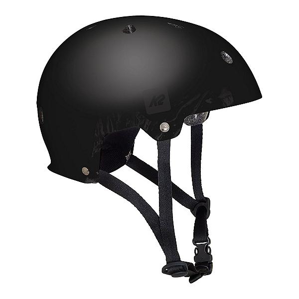 K2 Junior Varsity Boys Skate Helmet, Matte Black, 600