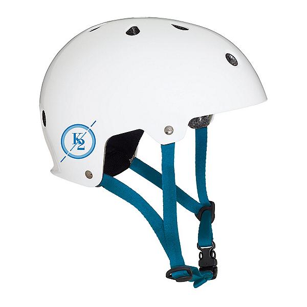 K2 Varsity Mens Skate Helmet, Matte White-Blue, 600