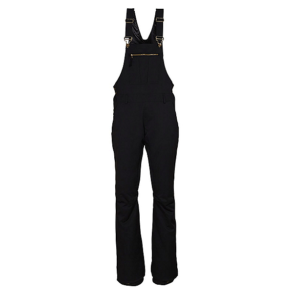 686 Black Magic Insulated Overall Womens Snowboard Pants, Black, 600