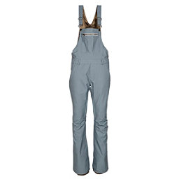 686 Black Magic Insulated Overall Womens Snowboard Pants, Light Blue Denim, 256