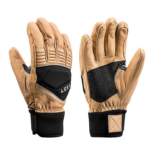 Leki Copper S Gloves, Tan-Black, 600