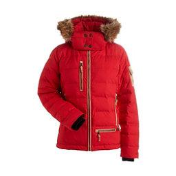 NILS Akasha w/Faux Fur Womens Insulated Ski Jacket, Red, 256