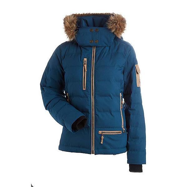 NILS Akasha w/Faux Fur Womens Insulated Ski Jacket, Uniform Blue, 600