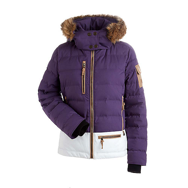 NILS Sasha w/Faux Fur Womens Insulated Ski Jacket, Nightshade-White, 600