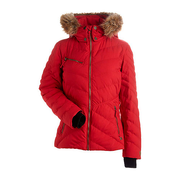 NILS Annalise w/Faux Fur Womens Insulated Ski Jacket, Red, 600