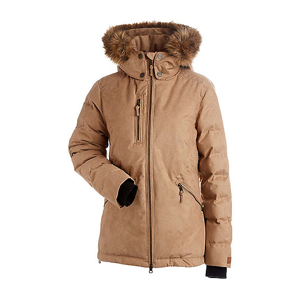 NILS Angelina w/Faux Fur Womens Insulated Ski Jacket, Caramel, 600
