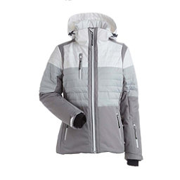 NILS Beth - Petite Womens Insulated Ski Jacket, Steel Grey-Silver-White, 256