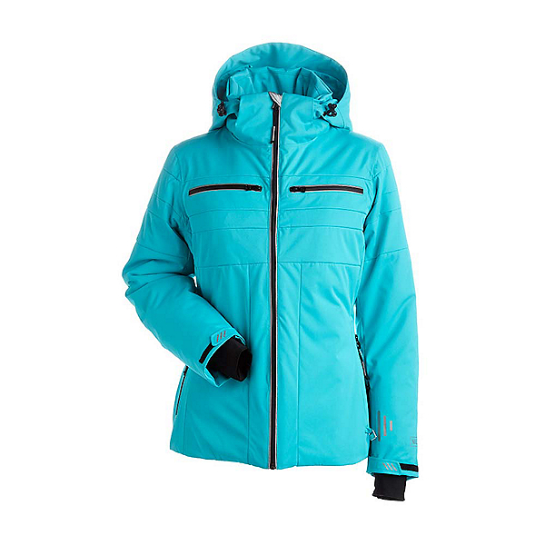NILS Britta Womens Insulated Ski Jacket, Turquoise, 600